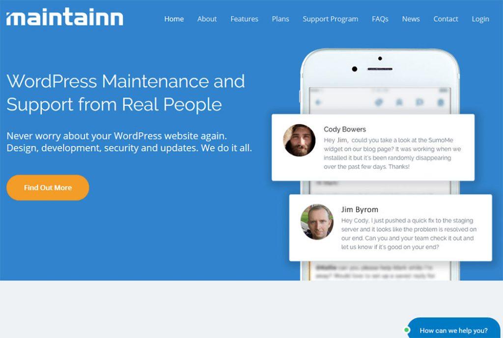 Maintainn Homepage