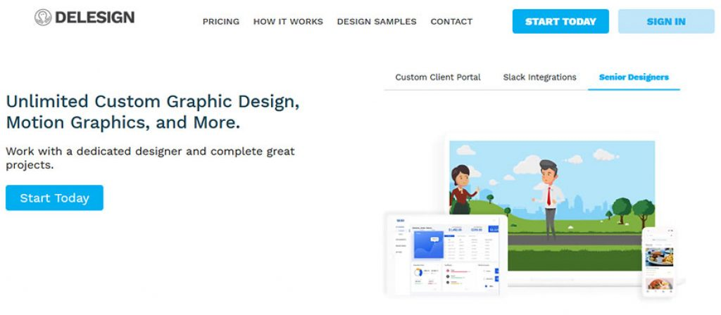 Delesign Homepage